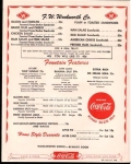1957 Sandwich menu from Woolworths. Imagine